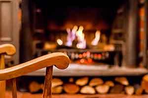 Calefaccion hogar caliente