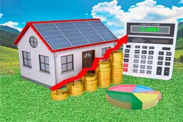 Casa con energia solar ahorro